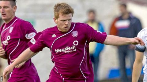 Ryan McCord in action for Arbroath