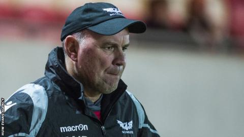 Wayne Pivac watches his players in action