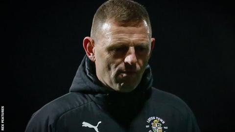 Luton manager Graeme Jones