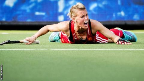 Great Britain hockey captain Alex Danson