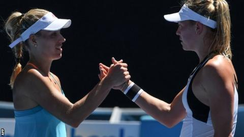 Carina Witthoeft and Angelique kerber