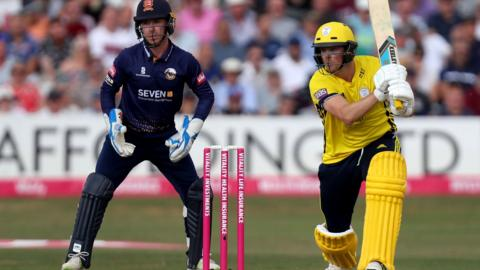 Sam Northeast in action for Hampshire