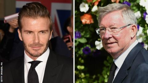 David Beckham Sir Alex Ferguson To Manage Former England Captain - Beckham hairstyle ferguson