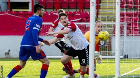 John Gemmell opened the scoring at Broadwood