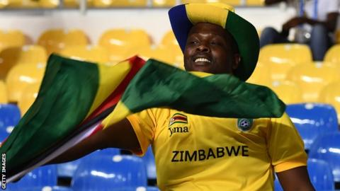 A Zimbabwe football fan