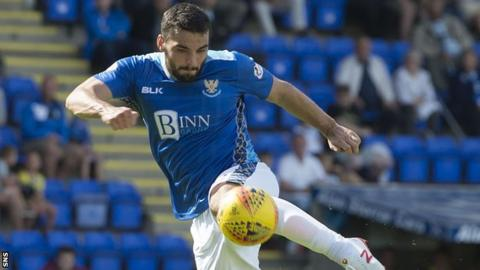 St Johnstone striker Tony Watt