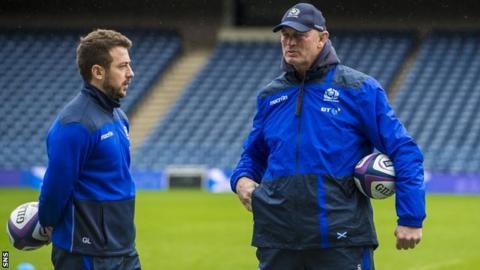 Greig Laidlaw and Vern Cotter