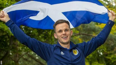 Lawrence Shankland is in the Scotland squad for the first time