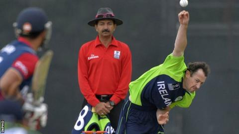Alex Cusack took 180 wickets in his Ireland career
