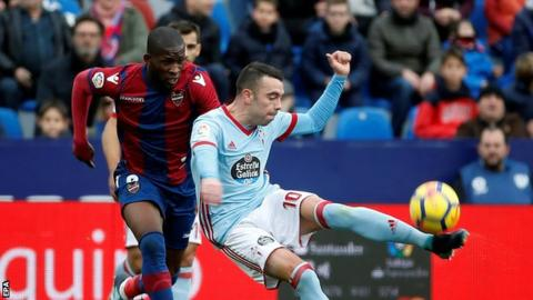 Spain striker Aspas accused of racist abuse