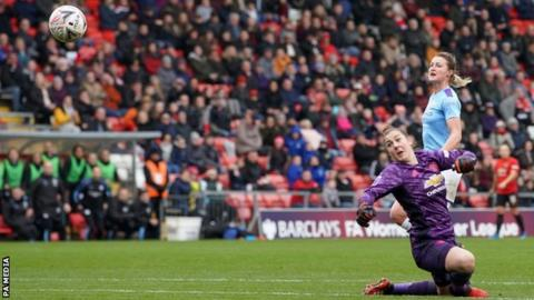 Manchester United 2-3 Manchester City: Blues edge rivals in Women's FA Cup fourth round