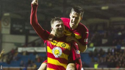 Robbie Muirhead and Callum Booth celebrate