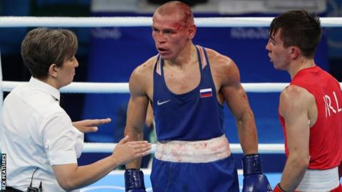 Vladimir Nikitin is awarded victory over Michael Conlan