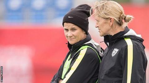 Dawn Scott with Jill Ellis