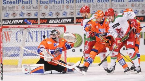 Gleason Fournier scores the winner for Cardiff Devils at Sheffield Steelers