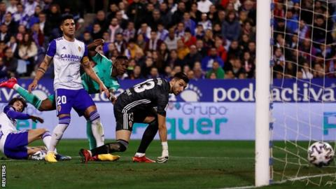 Real Zaragoza vs. Real Madrid - Football Match Report class=