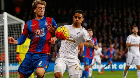 Chelsea striker Patrick Bamford, playing on loan for Crystal Palace