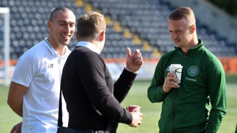 Scott Brown & Leigh Griffiths with Kris Commons