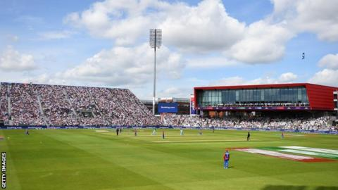 Afghanistan in action against England at Old Trafford