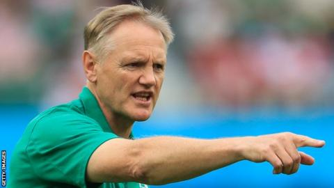 Joe Schmidt has made 11 changes for Thursday's Pool A clash with Russia