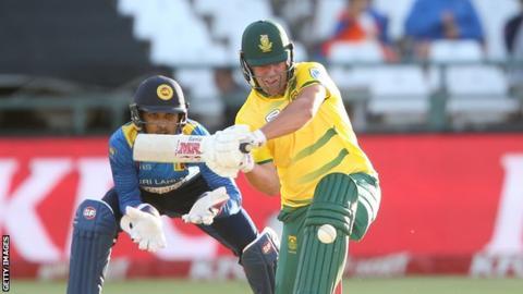 AB de Villiers in action against Sri Lanka