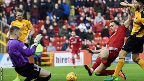 Stewart made his first appearance of his second Aberdeen spell in the 1-1 draw with Stenhousemuir