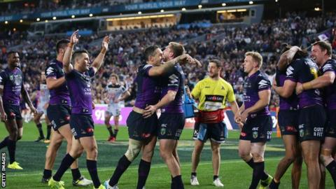 It was the perfect end to an era as Melbourne Storm trio Cooper Cronk, Billy Slater and Cameron Smith all played together for the last time