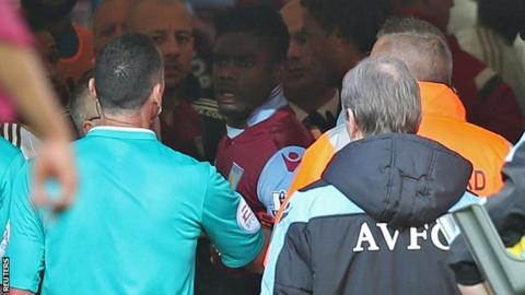 Villa v Swansea tunnel bust-up