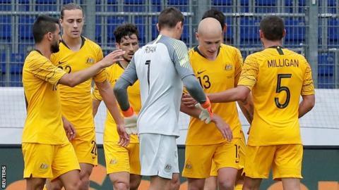 b31f9541f World Cup 2018  Australia thrash Czech Republic in warm-up - BBC Sport