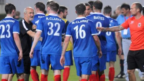 Linfield lost 2-1 away to Spartak Trnava in the first leg