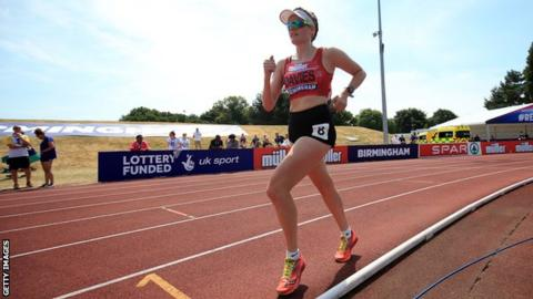 Bethan Davies on the track