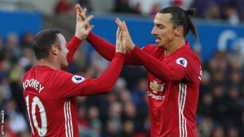 Wayne Rooney Zlatan Ibrahimovic