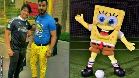 Sosha Makani and SpongeBob SquarePants