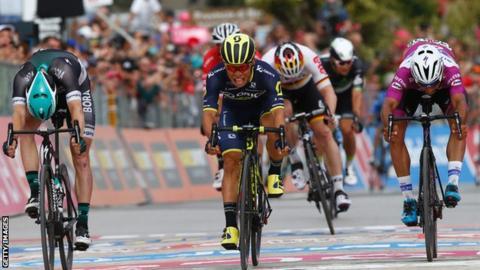 Caleb Ewan wins stage seven