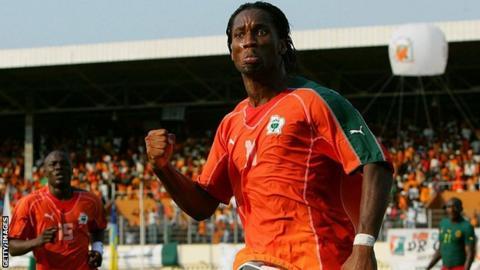 Didier Drogba celebrates scoring