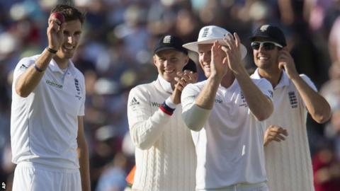 Steven Finn acknowledges his five-wicket haul
