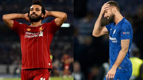 Mo Salah and Olivier Giroud