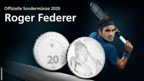 Swiss government announces Roger Federer will be featured on a coin
