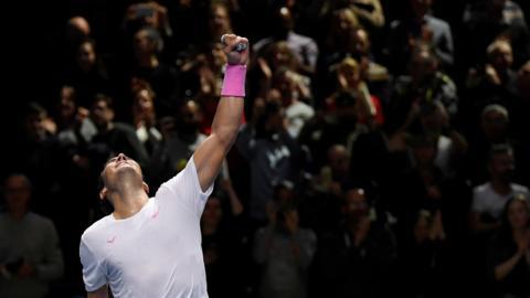 Rafael Nadal beats Stefanos Tsitsipas in ATP Finals