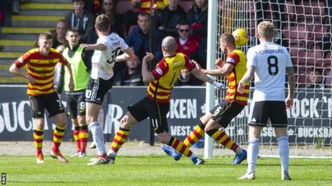 Aaron Muirhead scores
