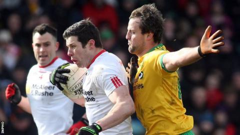 Sean Cavanagh and Michael Murphy in action for Tyrone and Donegal