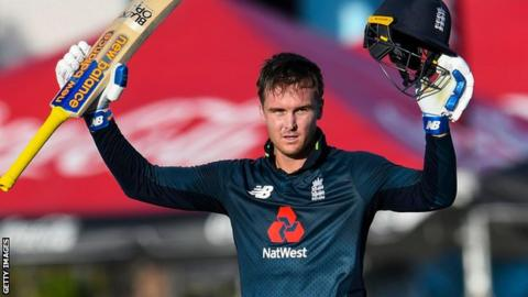 England in West Indies: Jason Roy & Joe Root hit centuries in record chase