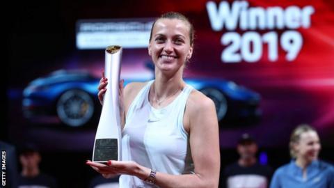 Kvitova earns maiden Stuttgart title
