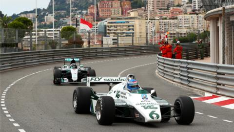 Rosbergs do a lap of Monaco