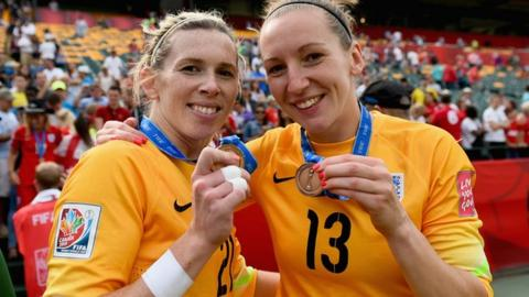 Carly Telford (l) and Siobhan Chamberlain