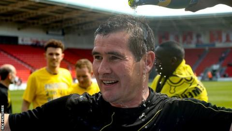 Nigel Clough: Burton Albion promotion party added to by ...