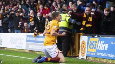 Jake Hastie celebrates scoring