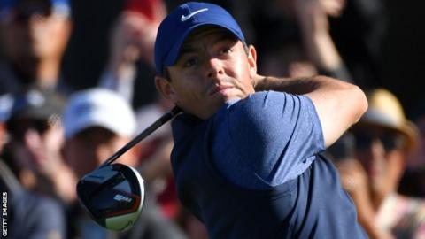 Rory McIlroy's round included two birdies and a bogey