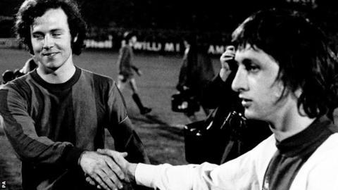 Johan Cruyff and Franz Beckenbauer