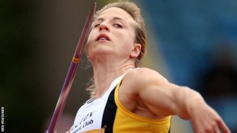 Javelin thrower Joanna Blair